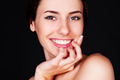 Beautiful smiley woman Stock Photos