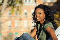 Beautiful Smiling African American Girl Royalty Free Stock Image