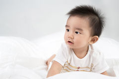 Beautiful smiling asian cute baby Stock Image
