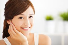 Beautiful and smiling asian young woman Stock Image