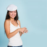 Beautiful smiling asian young woman Stock Image
