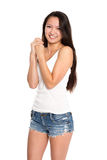 Beautiful smiling asian young woman Royalty Free Stock Photography