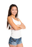 Beautiful smiling asian young woman Royalty Free Stock Images