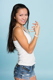 Beautiful smiling asian young woman Royalty Free Stock Photos