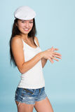 Beautiful smiling asian young woman Stock Photo