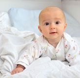 A beautiful smiling baby stock photography
