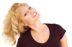 Beautiful smiling blond woman Stock Images