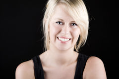 Beautiful Smiling Blonde Girl Stock Image