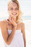Beautiful smiling blonde woman Royalty Free Stock Images