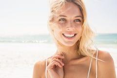 Beautiful smiling blonde woman Stock Photos