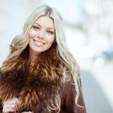 Beautiful smiling blonde woman closeup Royalty Free Stock Photo