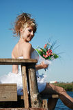 Beautiful smiling bride Stock Image