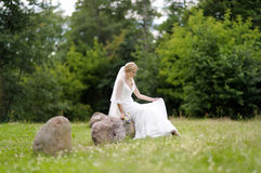 Beautiful smiling bride Royalty Free Stock Images