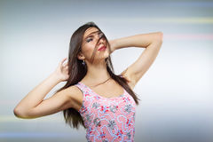 Beautiful smiling brunette Royalty Free Stock Images