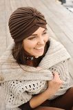 Beautiful smiling brunette woman portrait Royalty Free Stock Photo