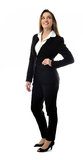 Beautiful smiling business woman full body Royalty Free Stock Photos