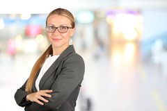 The Beautiful smiling business woman  portrait. Royalty Free Stock Photos