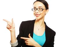 Beautiful smiling business woman Stock Images