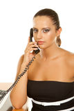 Beautiful smiling business woman talking on the phone Stock Image