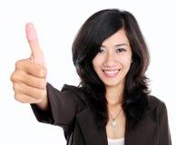 Beautiful smiling business woman Thumb up Stock Photos