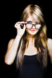 Beautiful Smiling Business Woman Wearing Glasses Stock Images