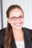 Beautiful smiling businesswoman. In office Stock Photos