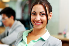Beautiful smiling businesswoman Stock Images