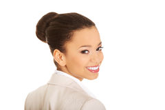 Beautiful smiling businesswoman. Royalty Free Stock Photography