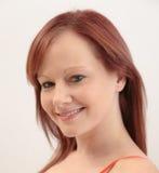 Beautiful Smiling Caucasian Woman Royalty Free Stock Photo