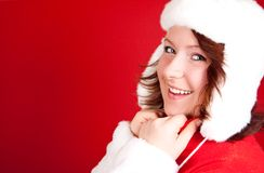 Beautiful smiling christmas girl Royalty Free Stock Photo