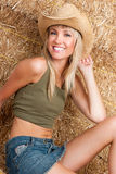 Beautiful smiling country girl Stock Image