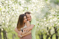 Beautiful Smiling Couple Royalty Free Stock Photography