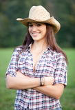 Beautiful smiling cowgirl Royalty Free Stock Photos