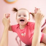 Beautiful smiling cute baby Stock Photography