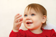 Beautiful smiling cute baby Stock Photo