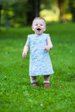 Beautiful laughing cute baby girl Royalty Free Stock Photos