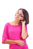 Beautiful smiling dreaming woman Royalty Free Stock Photography