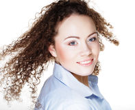 Beautiful smiling face of young woman with healthy clean skin Royalty Free Stock Image