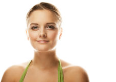 Beautiful smiling face of young woman with healthy clean skin Stock Photography