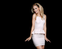 Beautiful smiling fashionable blonde Stock Image