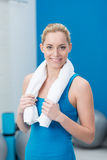 Beautiful smiling female athlete Royalty Free Stock Image