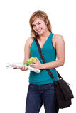 Beautiful smiling female student Stock Image