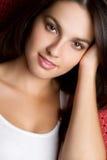 Beautiful Smiling Girl. Portrait closeup Stock Images