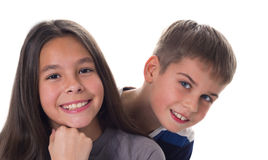 Beautiful smiling girl and a boy Stock Image
