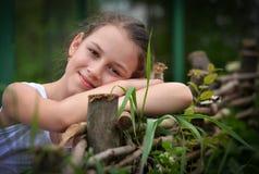 Beautiful smiling girl  closeup Stock Photo