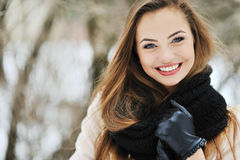Beautiful smiling girl face Royalty Free Stock Images