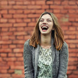 Beautiful smiling girl. Outdoor portrait Royalty Free Stock Photography