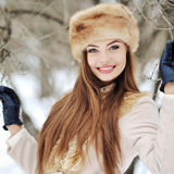 Beautiful smiling girl - outdoors portrait Stock Images