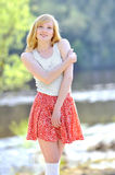 Beautiful smiling girl portrait outdoors Royalty Free Stock Image