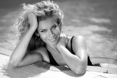Beautiful smiling girl summer portrait. Tanned woman. Sunburn. B Royalty Free Stock Photos